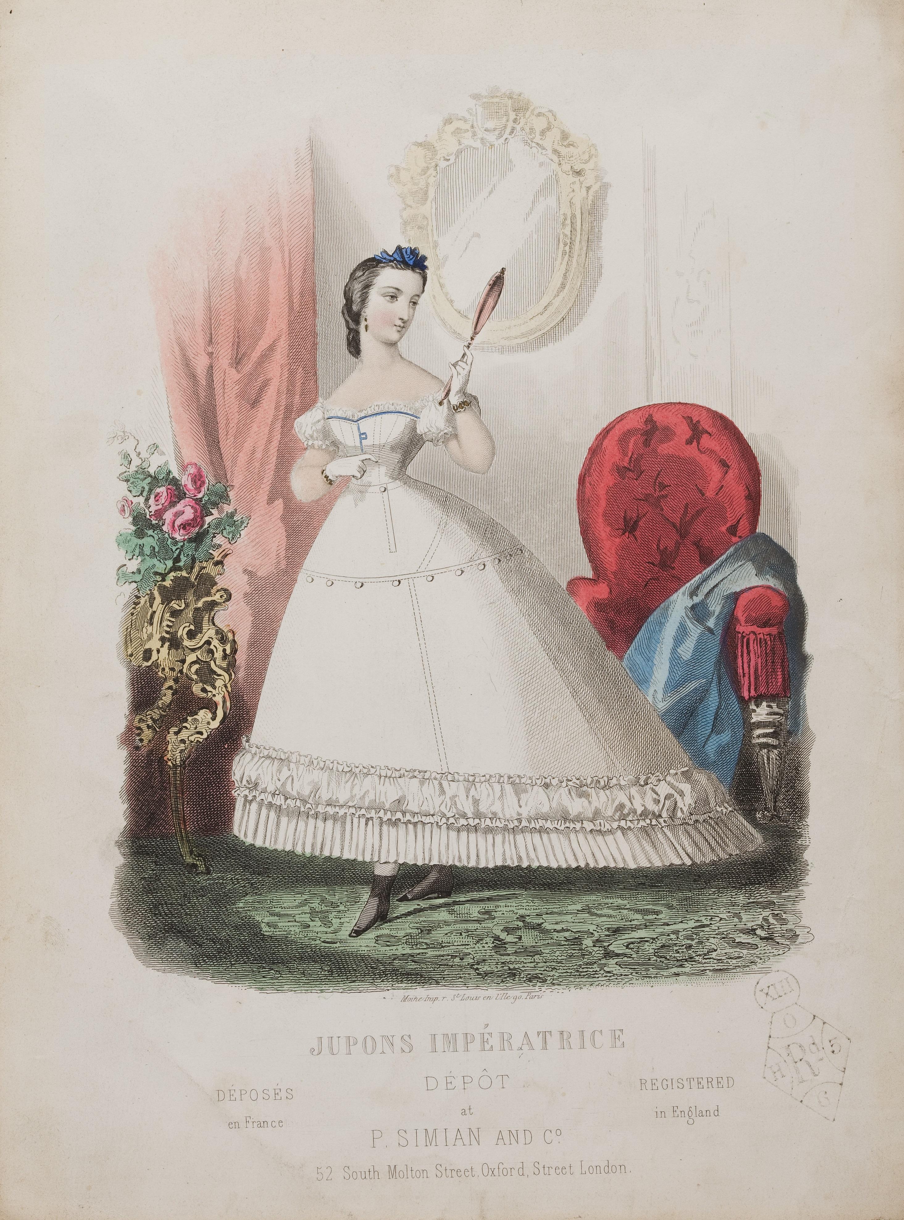 19世紀の化粧部屋・王妃のペチコート、1865年