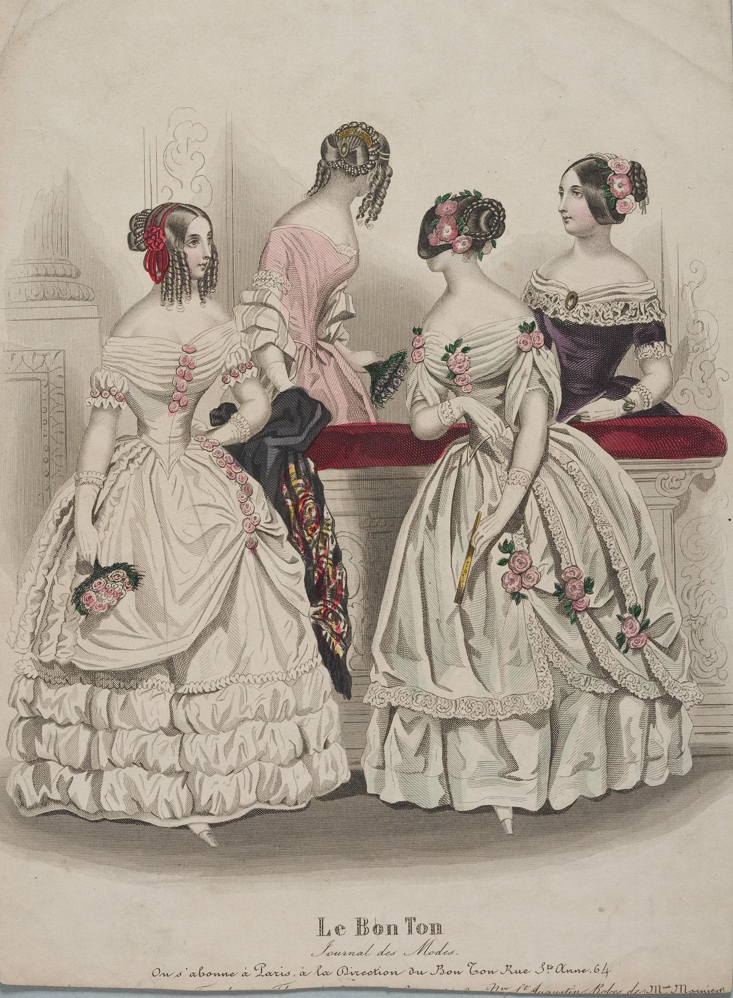 『ル・ボン・トン』 1840年代のロマンチック・ドレス。