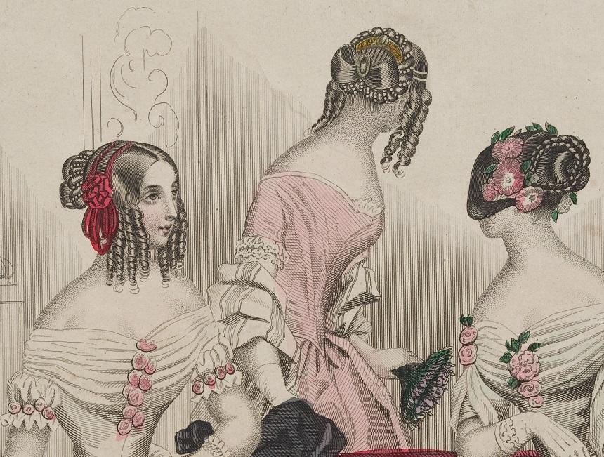 19世紀前半の髪型、技巧的なスタイルの変化