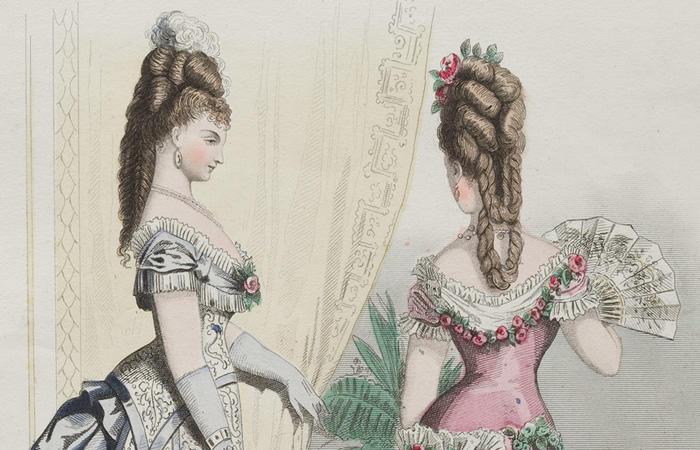 19世紀後半の髪型、つけ毛の流行と「盛る」髪型