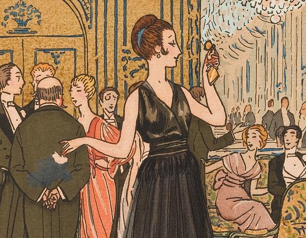 ピエール・ブリソー「まるで雲のよう シェリュイのイヴニング・ドレス(一部)」『ガゼット・デュ・ボン・トン』(ファッション・プレート) 1914年
