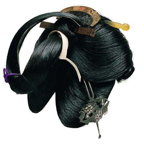 片はづし 江戸時代後期 笄を外せば垂髪に。宮中の女性や御殿女中に結われた。