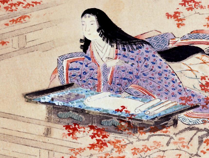 《中古諸名家美人競 紫式部》(部分) 当時詠まれた歌や物語などにも、香りに関することが多く登場。平安女性は香りで自由に個性を表現したといわれる。