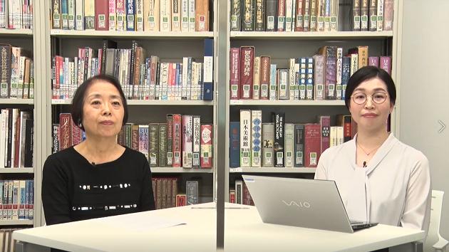 講師の村田孝子(元ポーラ文化研究所シニア研究員・左)と司会の渡辺研究員(右)