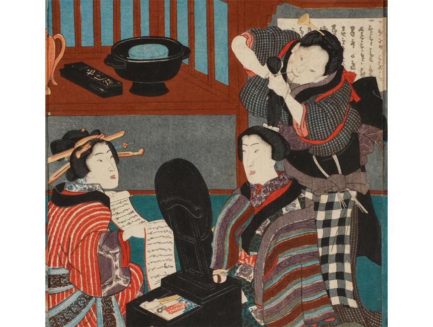 《春雨豊夕栄》(部分) 歌川豊国 安政2年(1855)(国文学研究資料館撮影)