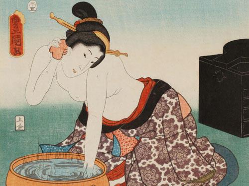 伝統化粧の完成期 <br>江戸時代4 美肌意識とスキンケアの現れ<洗顔>