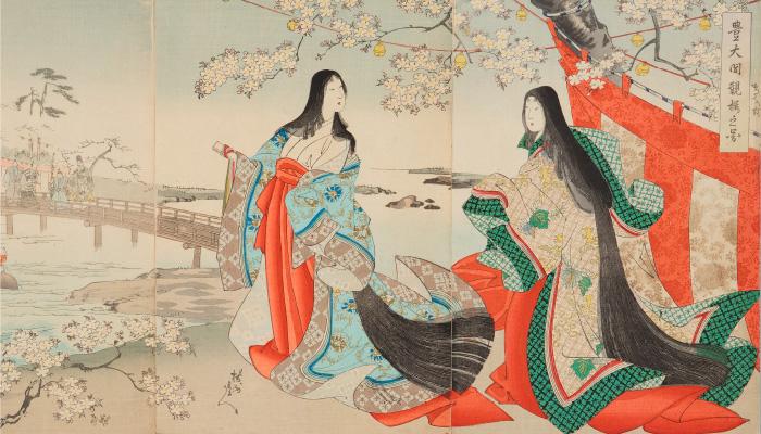 豊太閤観桜之図 楊洲周延/明治30年(1897)